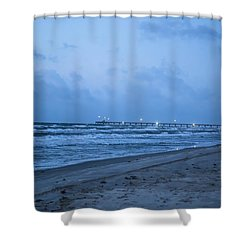 End Of The Season Padre 3 Shower Curtain