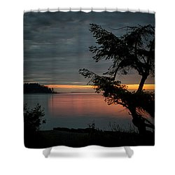 End Of The Trail Shower Curtain by Randy Hall