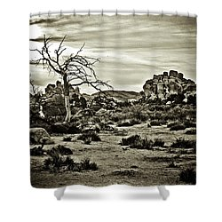 Shower Curtain featuring the photograph End Of The Trail by Tom Vaughan