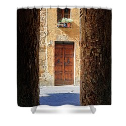 End Of The Tunnel Shower Curtain by Inge Johnsson