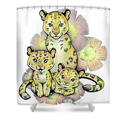 Endangered Animal Amur Leopard Shower Curtain