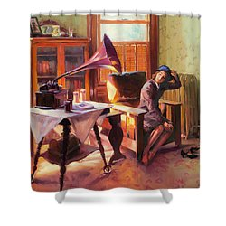 Shower Curtain featuring the painting Ending The Day On A Good Note by Steve Henderson