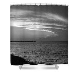 Ending The Day On Mobile Bay Shower Curtain