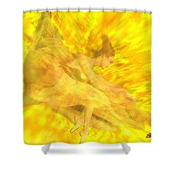 Shower Curtain featuring the digital art Endless Joy by Seth Weaver