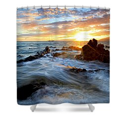 Endless Ocean Shower Curtain by James Roemmling