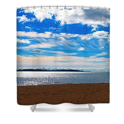 Shower Curtain featuring the photograph Endless Sky by Valentino Visentini
