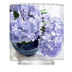 Endless Summer Hydrangea Still Life Shower Curtain by Louise Kumpf