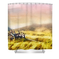Shower Curtain featuring the painting Enduring Courage by Greg Collins