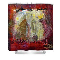 Energies And The Yellow Bird Shower Curtain