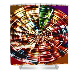 Energy Aura Cleaning Wheel In Motion Yoga Meditation Mandala By Navinjoshi At Fineartamerica.com Shower Curtain