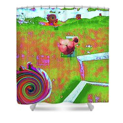 Energy Cycle No. 2 Shower Curtain