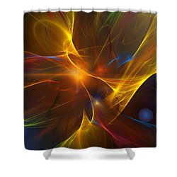 Energy Matrix Shower Curtain by David Lane