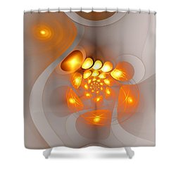 Shower Curtain featuring the digital art Energy Source by Anastasiya Malakhova