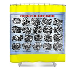 Eng-19_corvette-engines Shower Curtain