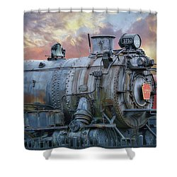 Shower Curtain featuring the photograph Engine 3750 by Lori Deiter