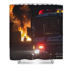 Shower Curtain featuring the photograph Engine 6 by Jim Lepard