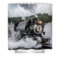 Engine No. 17 Elbe Christmas Train Shower Curtain