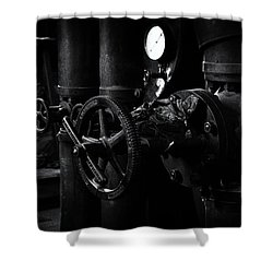 Shower Curtain featuring the photograph Engine Room by Tim Nichols