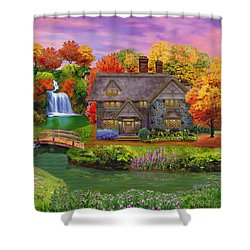 England Country Autumn Shower Curtain