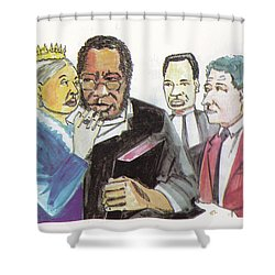England Queen With Ajayi Crowther Shower Curtain by Emmanuel Baliyanga