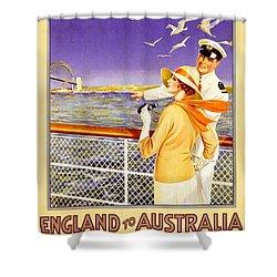 England To Australia Shower Curtain