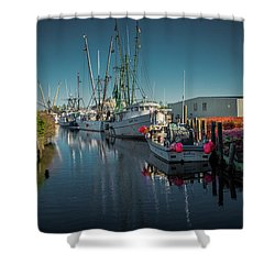 Englehardt,nc Fishing Town Shower Curtain