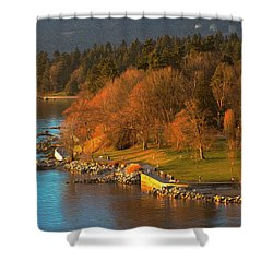 English Bay At Golden Hr. Shower Curtain