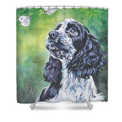 English Cocker Spaniel  Shower Curtain by Lee Ann Shepard