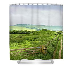 English Country Landscape 2 Shower Curtain by Wallaroo Images