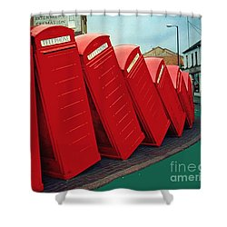 English Domino Effect Shower Curtain by Sarah Loft