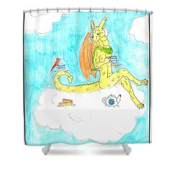 English Dragon Shower Curtain