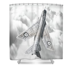 English Electric Lightning F.1a Shower Curtain