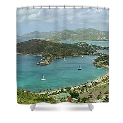 English Harbour Antigua Shower Curtain by John Edwards
