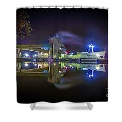English River At Lafarge, Napanee Shower Curtain