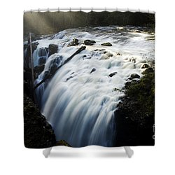 Englishman Falls Shower Curtain by Bob Christopher