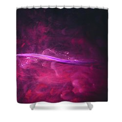 Enigma - Purple Abstract Photography Shower Curtain
