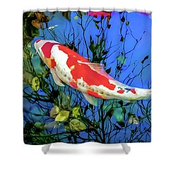 Enigmatic Koi Shower Curtain by Wayne King