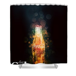 Enjoy Coca-cola With Bubbles Shower Curtain