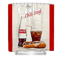 Enjoy Coca-cola With Chili Dog Shower Curtain