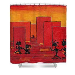 Enjoy Dancing In Red Town P1 Shower Curtain