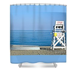 Shower Curtain featuring the photograph Enjoy The Beach by Beth Saffer