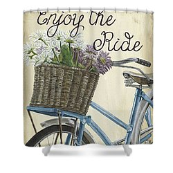 Enjoy The Ride Vintage Shower Curtain