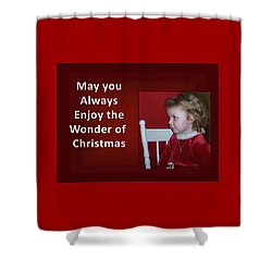 Shower Curtain featuring the digital art Enjoy The Wonder Of Christmas by Sonya Nancy Capling-Bacle