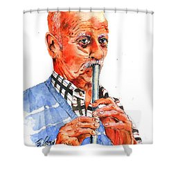 Enjoyable Moment Shower Curtain by Betty M M Wong