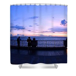 Enjoying The Beautiful Evening Sky Shower Curtain by Yali Shi
