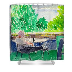 Enjoying The View-detail Shower Curtain by Fred Jinkins