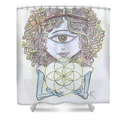Enlightened Alien Shower Curtain