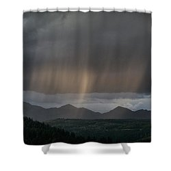 Enlightened Shafts Shower Curtain by Jason Coward