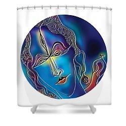 Enlightening Shiva Shower Curtain