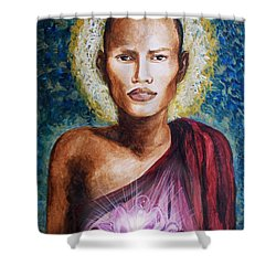 Enlightenment Shower Curtain by Amber Stanford